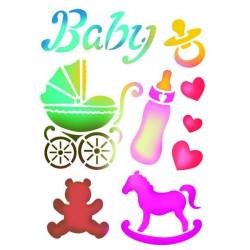 Stamperia Stencil A4 - Baby