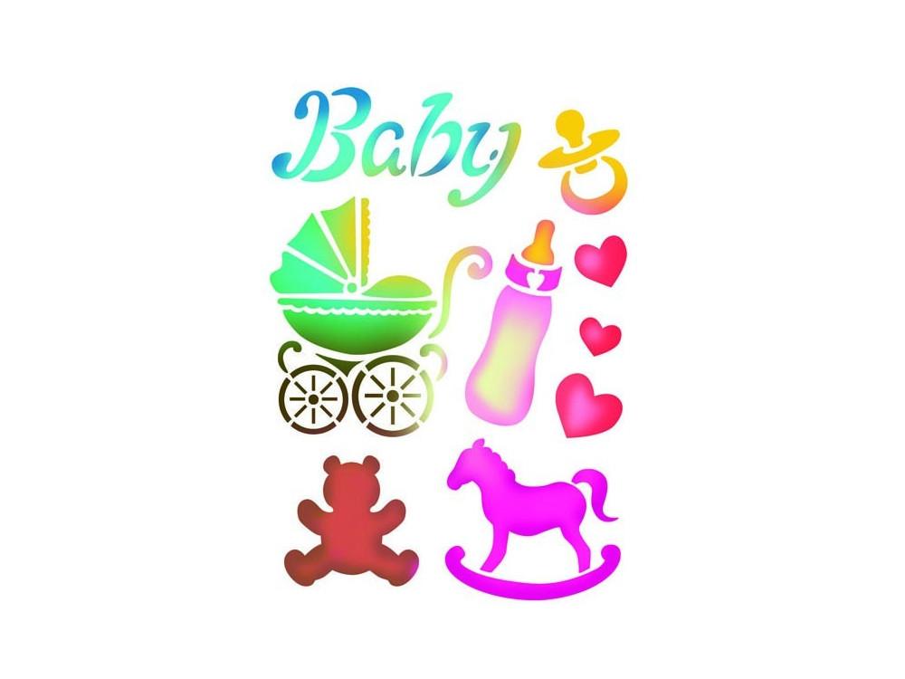 Szablon A4 - Stamperia - Baby