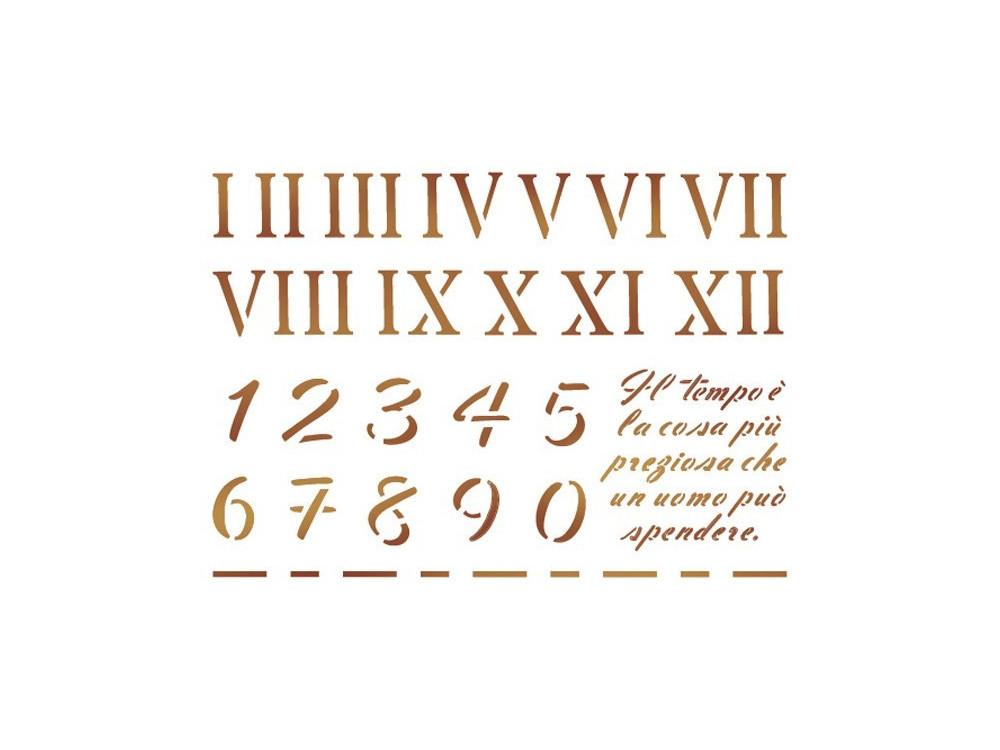 Szablon 15 x 20 cm - Stamperia - Cyfry