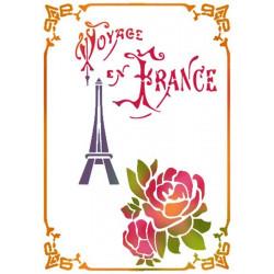 Szablon 15 x 20 cm - Stamperia - Do Francji