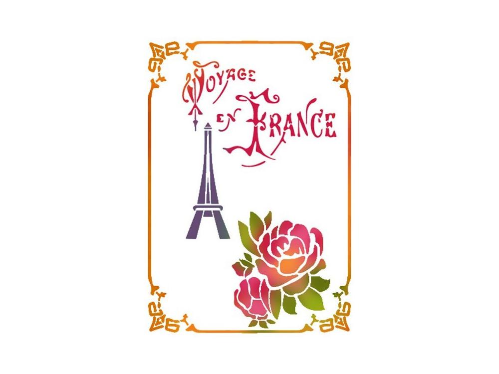 Stamperia Stencil 15x20 - Voyage en France