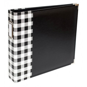 Album Buffalo Check 30 x 30 cm - We R Memory Keepers - Black
