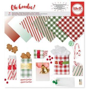 Zestaw papierów pergaminowych 30 x 30 cm - Oh Goodie, Glassine Holiday We R