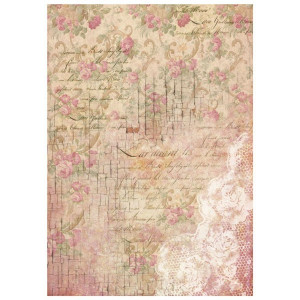 Papier ryżowy A4 Stamperia - Pączki róż i koromnki