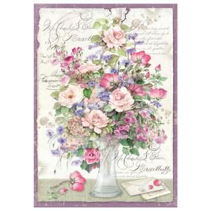 Papier ryżowy A4 Stamperia - Wazon z kwiatami