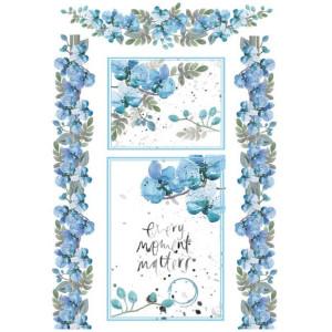 Papier ryżowy A4 Stamperia - Akwarela kwiaty