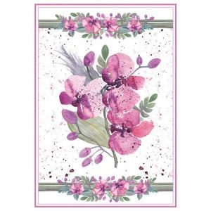 Papier ryżowy A4 Stamperia - Akwarela bukiecik róż