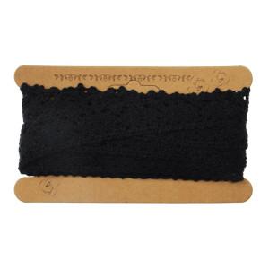 Koronka bawełniana 25 mm x 4,3 m czarna