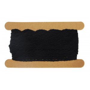 Koronka bawełniana 17 mm x 4,3 m czarna