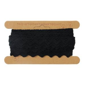 Koronka bawełniana 14 mm x 4,3 m czarna