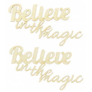 Ozdoby tekturowe - Believe in the magic, 2 szt.