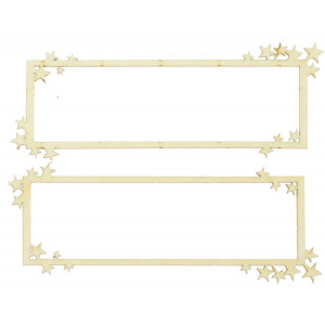 Cardboard decorations - Frame 2, 2 pcs.