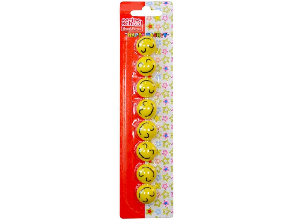 Smiley Face Fridge Magnets 20 mm 8 pcs