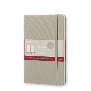 Notatnik Moleskine Two-Go - Ash Grey Plain/ Ruled Medium