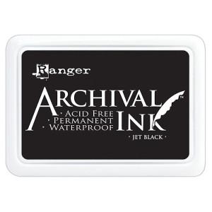 Archival Ink Pad - Poduszka z tuszem wodoodpornym - Ranger - Jet Black