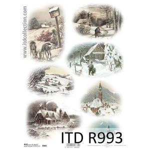 Papier ryżowy decoupage ITD R993