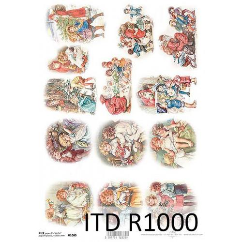 Papier ryżowy decoupage ITD R1000