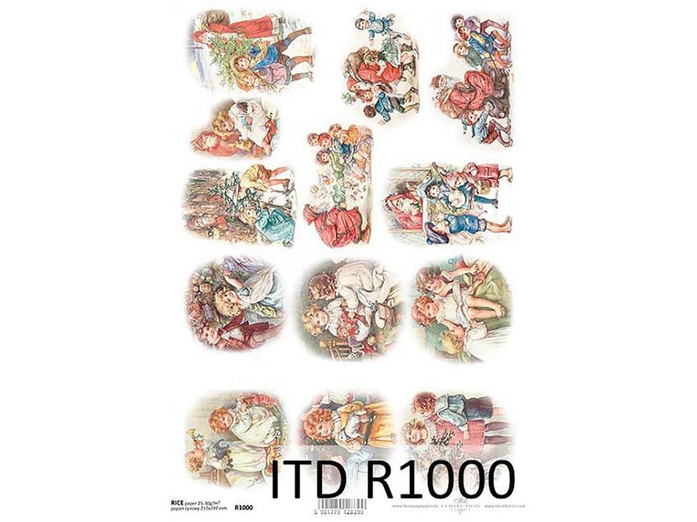 Papier do decoupage A4 - ITD - ryżowy, R1000