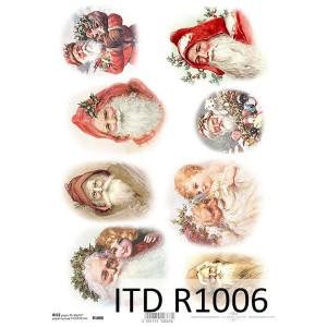 Papier ryżowy decoupage ITD R1006