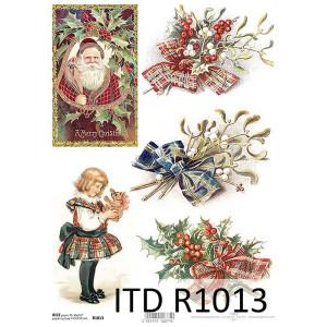 Papier ryżowy decoupage ITD R1013