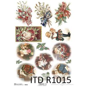 Papier ryżowy decoupage ITD R1015