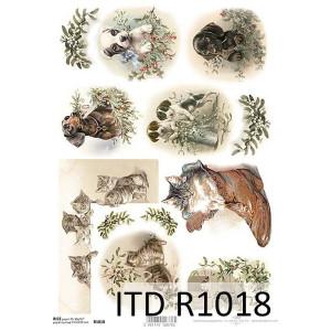 Papier ryżowy decoupage ITD R1018