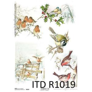 Papier ryżowy decoupage ITD R1019