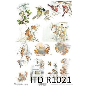 Papier ryżowy decoupage ITD R1021