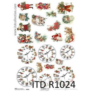Papier ryżowy decoupage ITD R1024