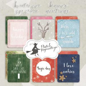 Zestaw karty do journalingu 7 x 10 cm - Piątek Trzynastego - Świąteczne Życzenia