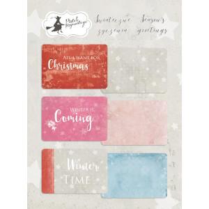 Zestaw karty do journalingu 10 x 15 cm - Piątek Trzynastego - Świąteczne Życzenia