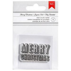 Stempel akrylowy American Crafts - Merry Christmas - Block