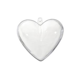 Akrylowe serce dwuczęściowe do ozdabiania 6 cm