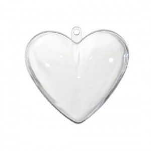 Akrylowe serce dwuczęściowe do ozdabiania 8 cm