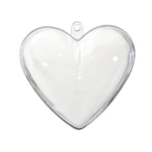 Akrylowe serce dwuczęściowe do ozdabiania 10 cm