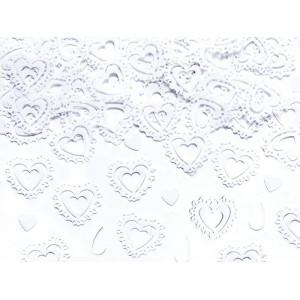 Konfetti - srebrne serca puste 15g