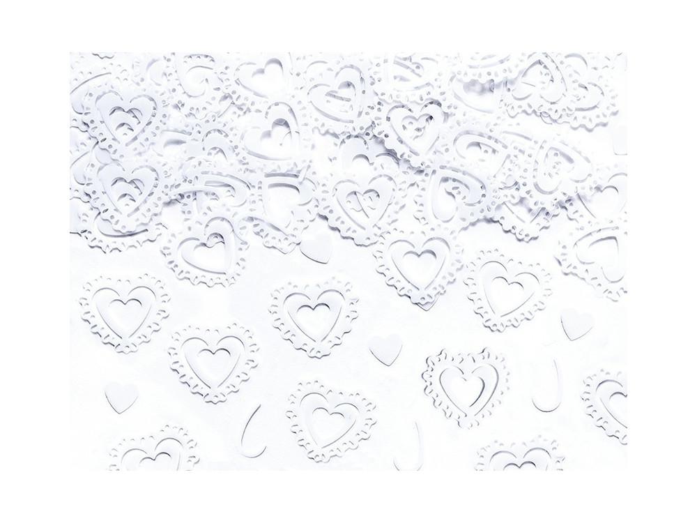 Confetti - hearts, white, 15 g