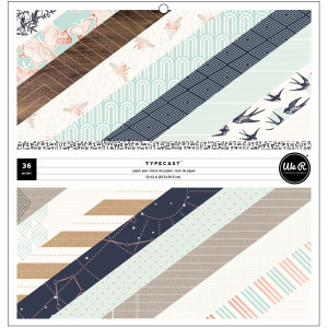Zestaw papierów ozdobnych We R Typecast - Mint 30 x 30 cm, 36 ark.