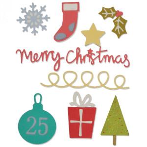 Wykrojniki Sizzix - Thinlits Die - Christmas - 10 szt.