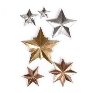 Sizzix Thinlits Die Set - Thinlits Die - Dimensional Stars - 6 pc.