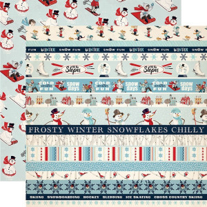 Papier Carta Bella - Snow Fun - Border Strips