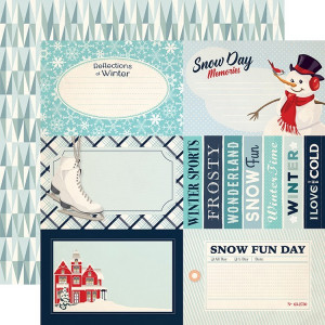 Papier Carta Bella - Snow Fun - Journaling Cards 4 x 6