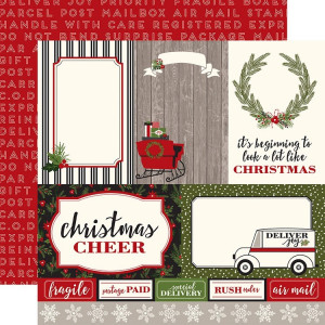 Papier Carta Bella - Christmas Delivery - Journaling 4x6