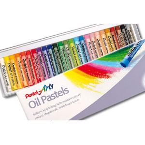 Pastele olejne, 25 kolorów - Pentel
