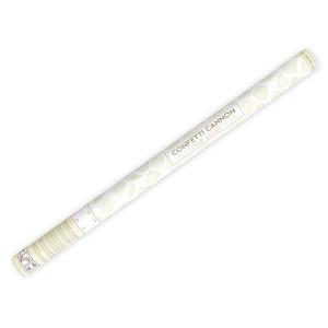 Wystrzałowe konfetti tuba 80 cm płatki róż kremowe