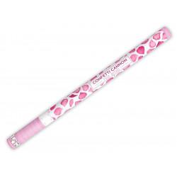 Confetti cannon - rose petals, pink, 80 cm