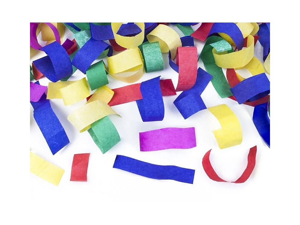 Wystrzałowe konfetti tuba - kolorowe, 80 cm