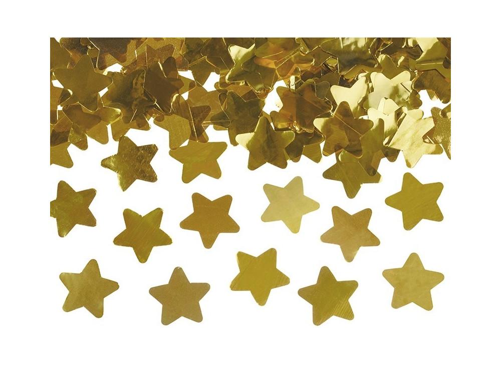 Wystrzałowe konfetti tuba - gwiazdki, złote, 80 cm