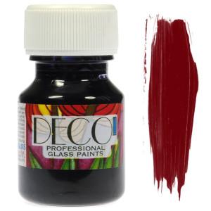 Farba do szkła witrażowa Renesans DECO 30 ml - bordowy
