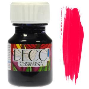 Farba do szkła witrażowa Renesans DECO 30 ml - malinowa